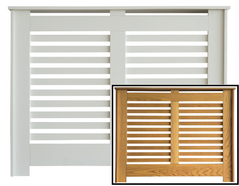 Manhattan Radiator Covers - Available in Satin White & Fully Finished Oak Veneer